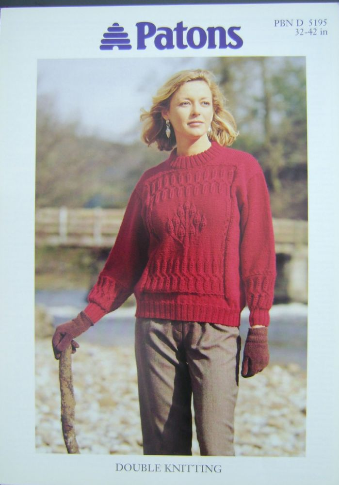 Patons Knitting Pattern 5195
